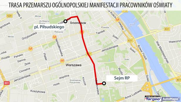Trasa przemarszu TVN24